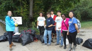 Some of the volunteers from Johns Hopkins University.