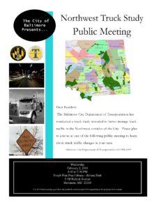 Northwest Truck Study Public Meeting